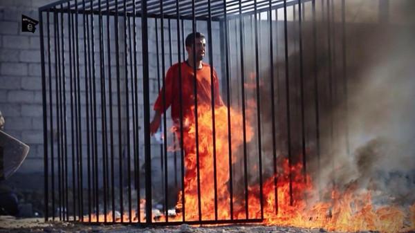 عملية حرق الطيار الأردني معاذ الكساسبة