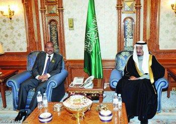 الرئيس الموريتاني والملك السعودي  في اجتماع سابق