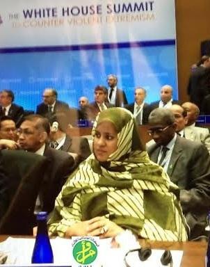 وزيرة  الخارجية فاطمة فال بنت أصوينع